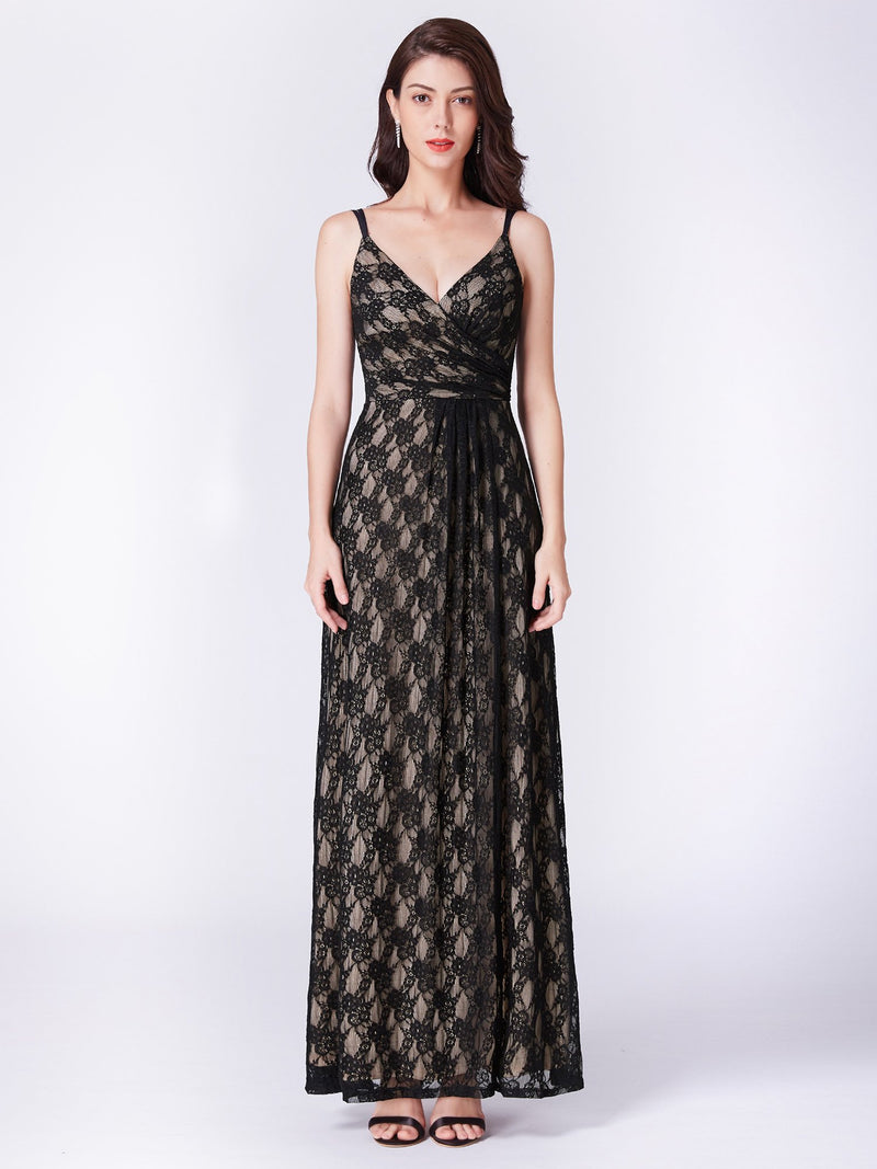 Lace Sexy Long Gown Black