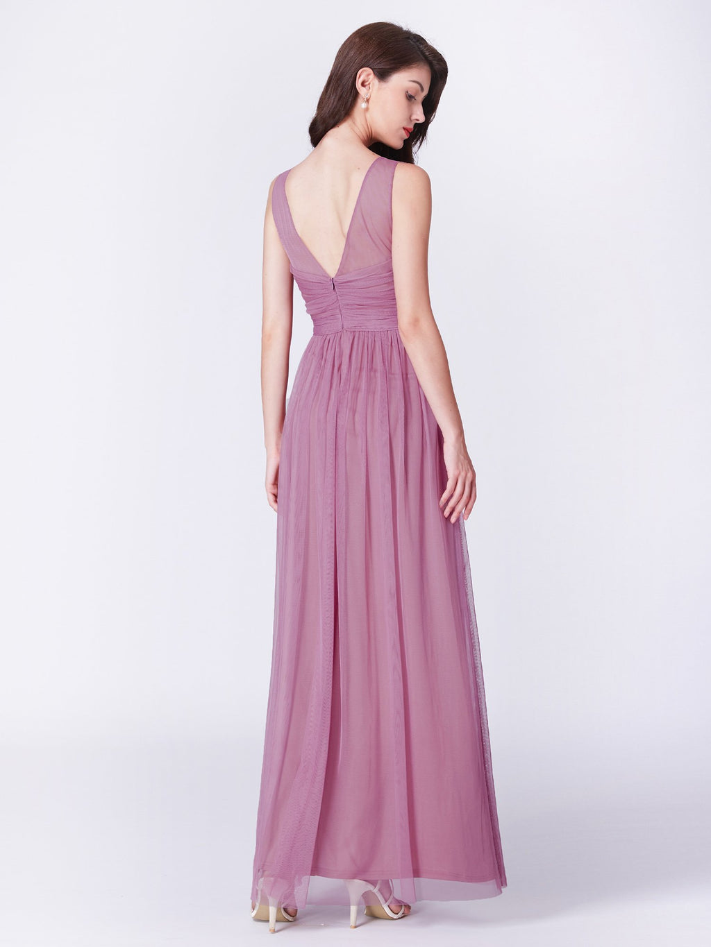 Sexy V Neck Long Outstanding Maxi Gown