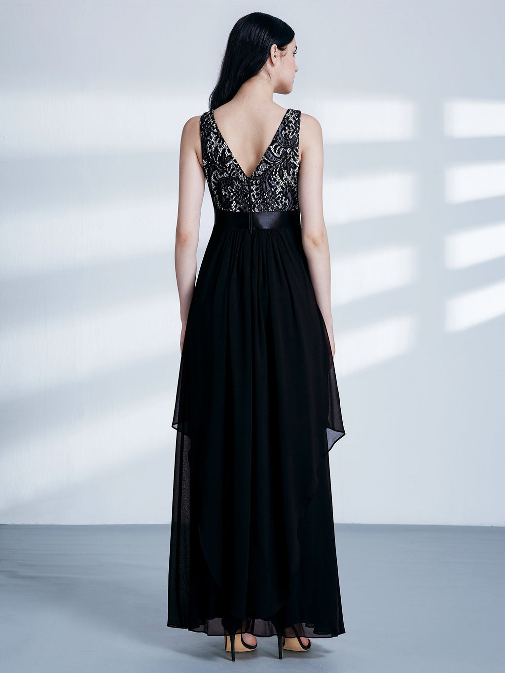 Round Neck Long Dress Black
