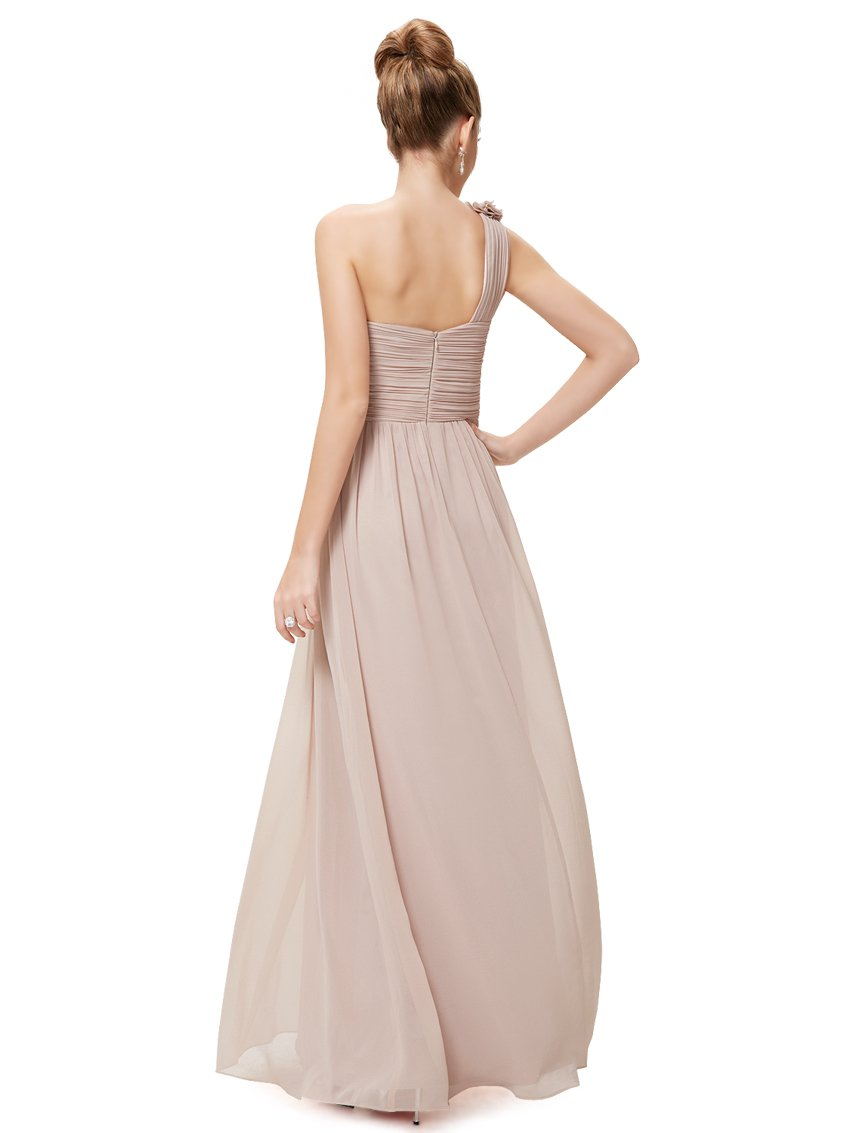Floral Shoulder One Shoulder Evening Dress