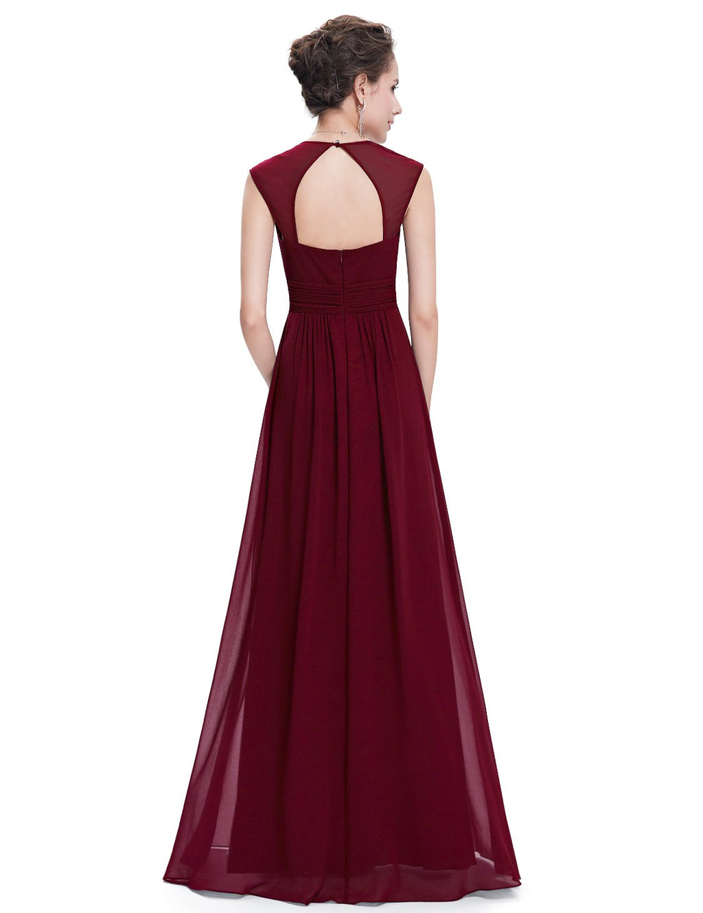 Sexy Neckline Dress Burgundy