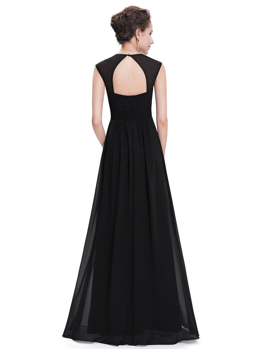 Sexy Neckline Dress Black