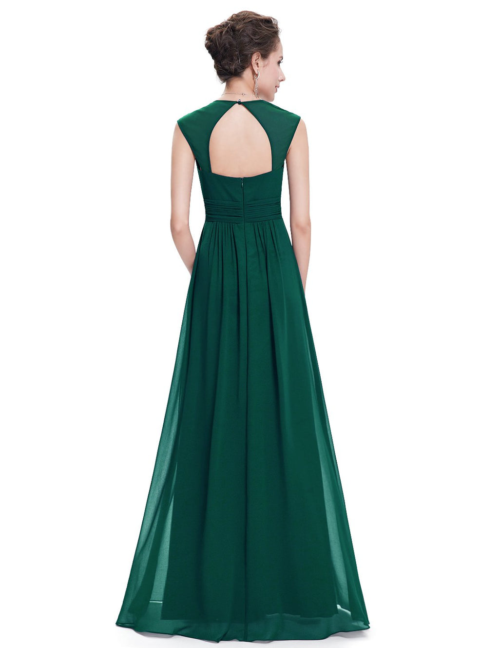Sexy Neckline Dress Dark Green