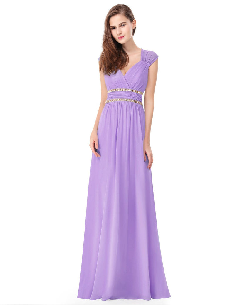 Sexy Neckline Dress Light Purple