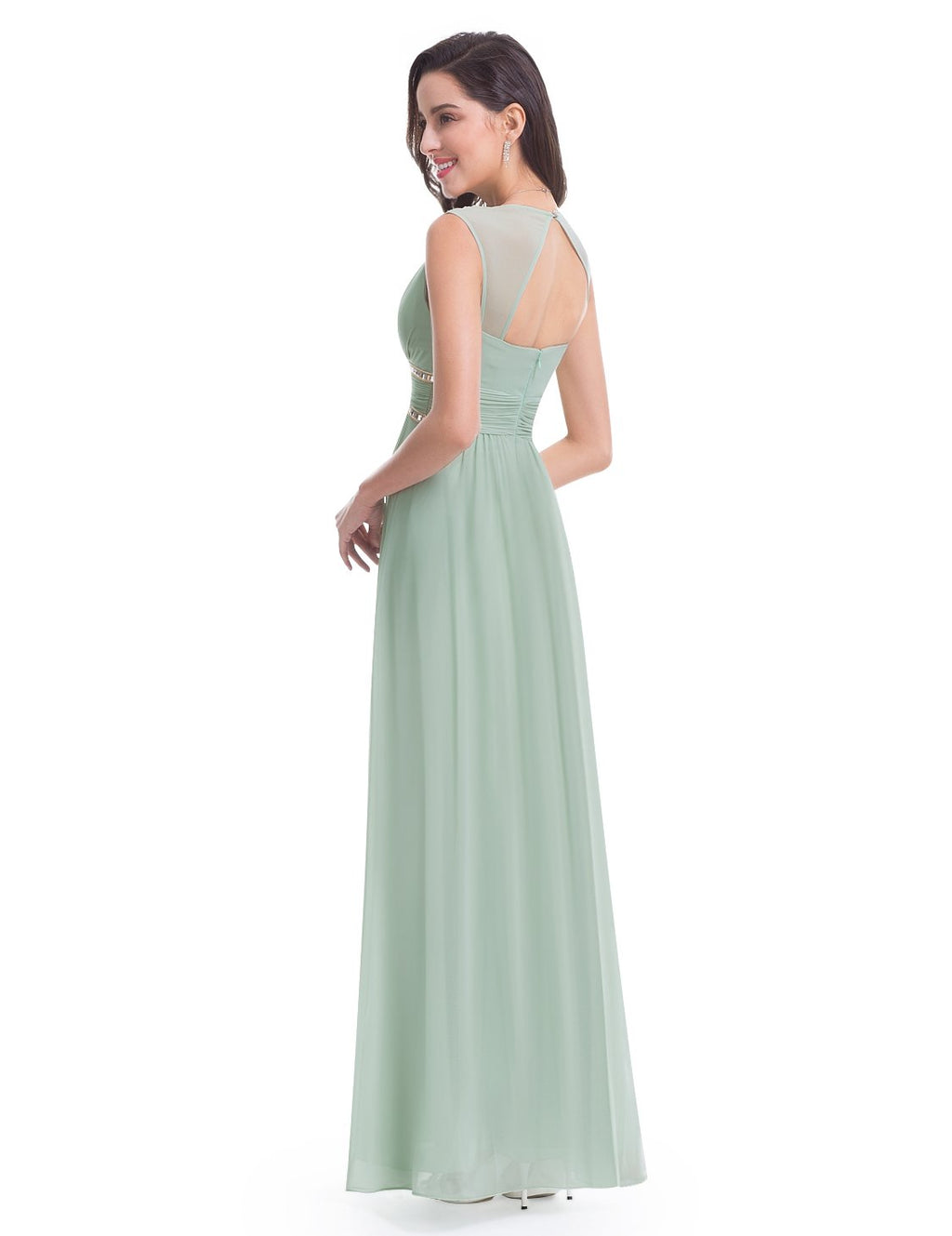 Sexy Neckline Dress Green