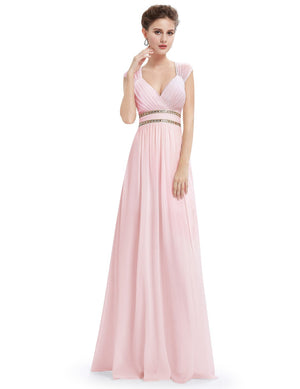 Sexy Neckline Dress Pink