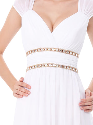 Sexy Neckline Dress White