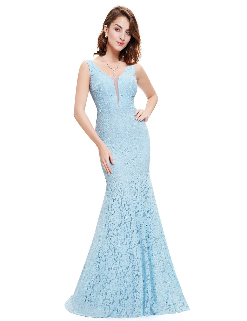 Sexy Fishtail Dress Blue