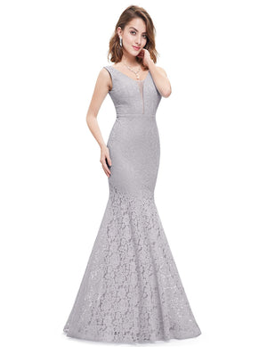 Sexy Fishtail Dress Grey