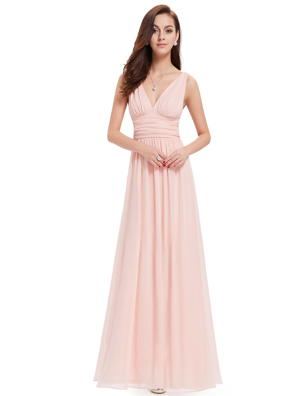 Chiffon Elegant Evening Gown Pink