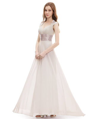 Unique Back Chiffon Long Dress
