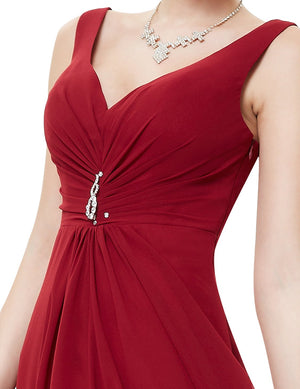 High Low Party Dress Burgundy