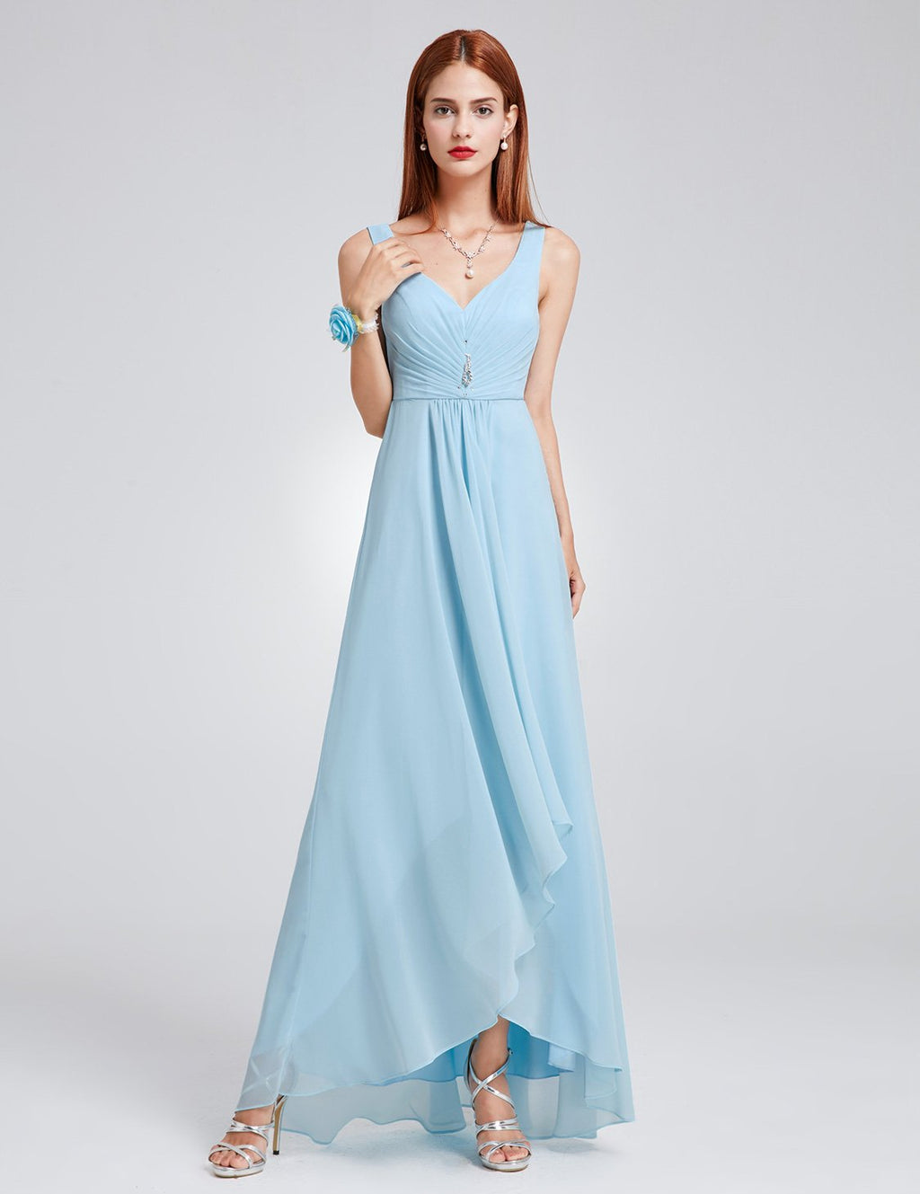 High Low Party Dress Blue