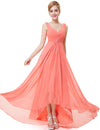 High Low Party Dress Coral