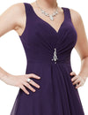 High Low Party Dress Dark Purple