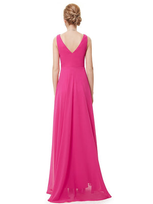 High Low Party Dress Hot Pink