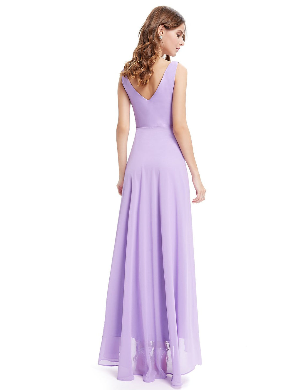 High Low Party Dress Light Purple