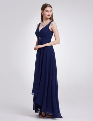 High Low Party Dress Navy Blue