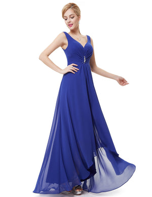 High Low Party Dress Sapphire Blue