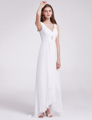 High Low Party Dress White