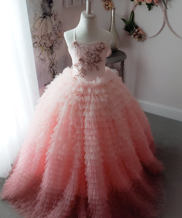 Vivian Pink Ombre Gown