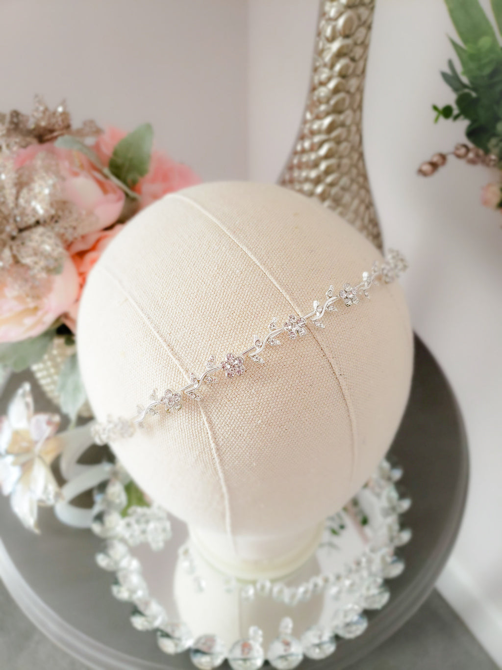 Lily of the Valley Crystal Headband