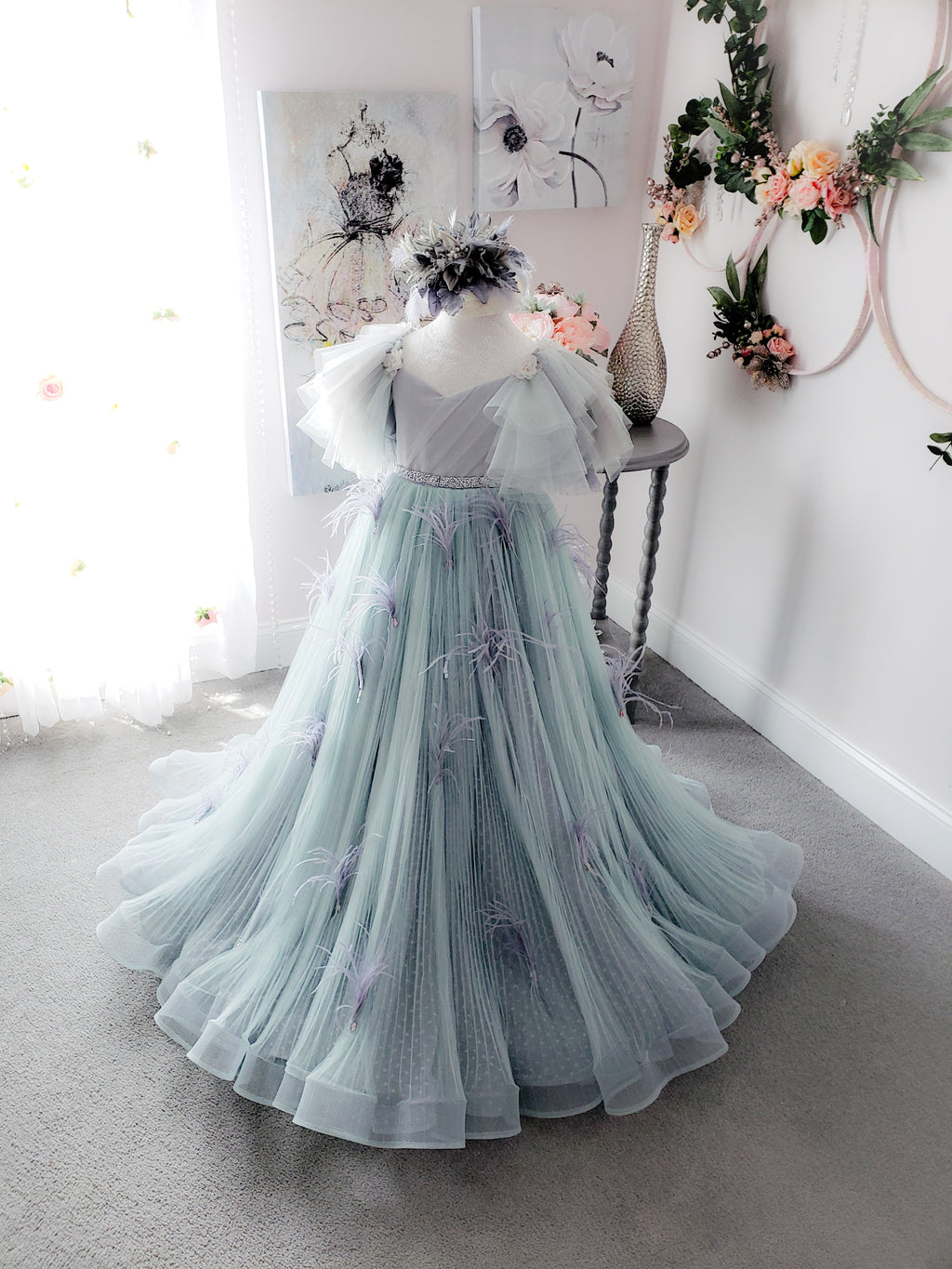 Unveiled Gown in Sage