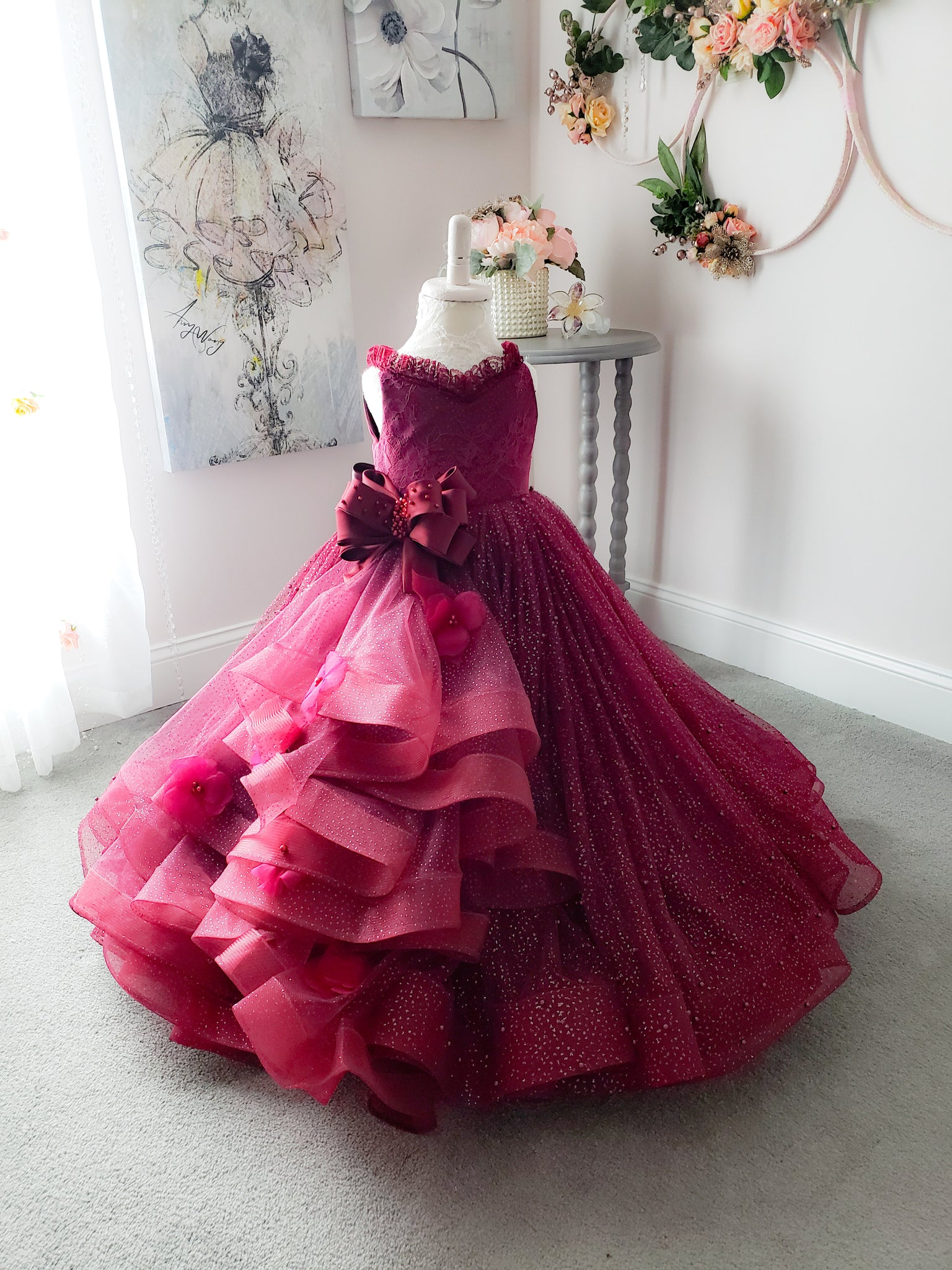 Cherry Burst Gown