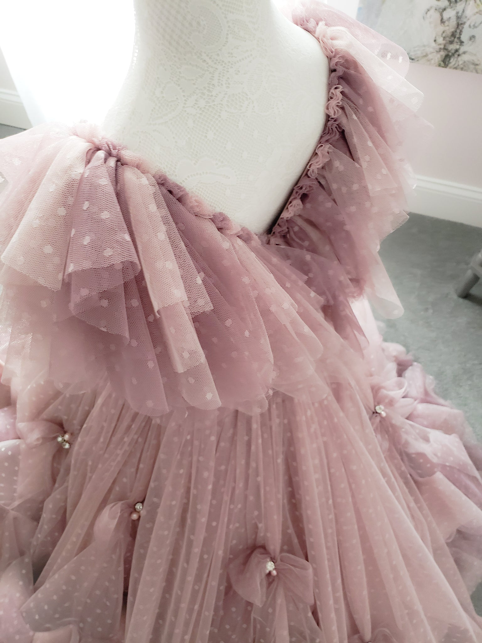 Faded Rosebud Gown