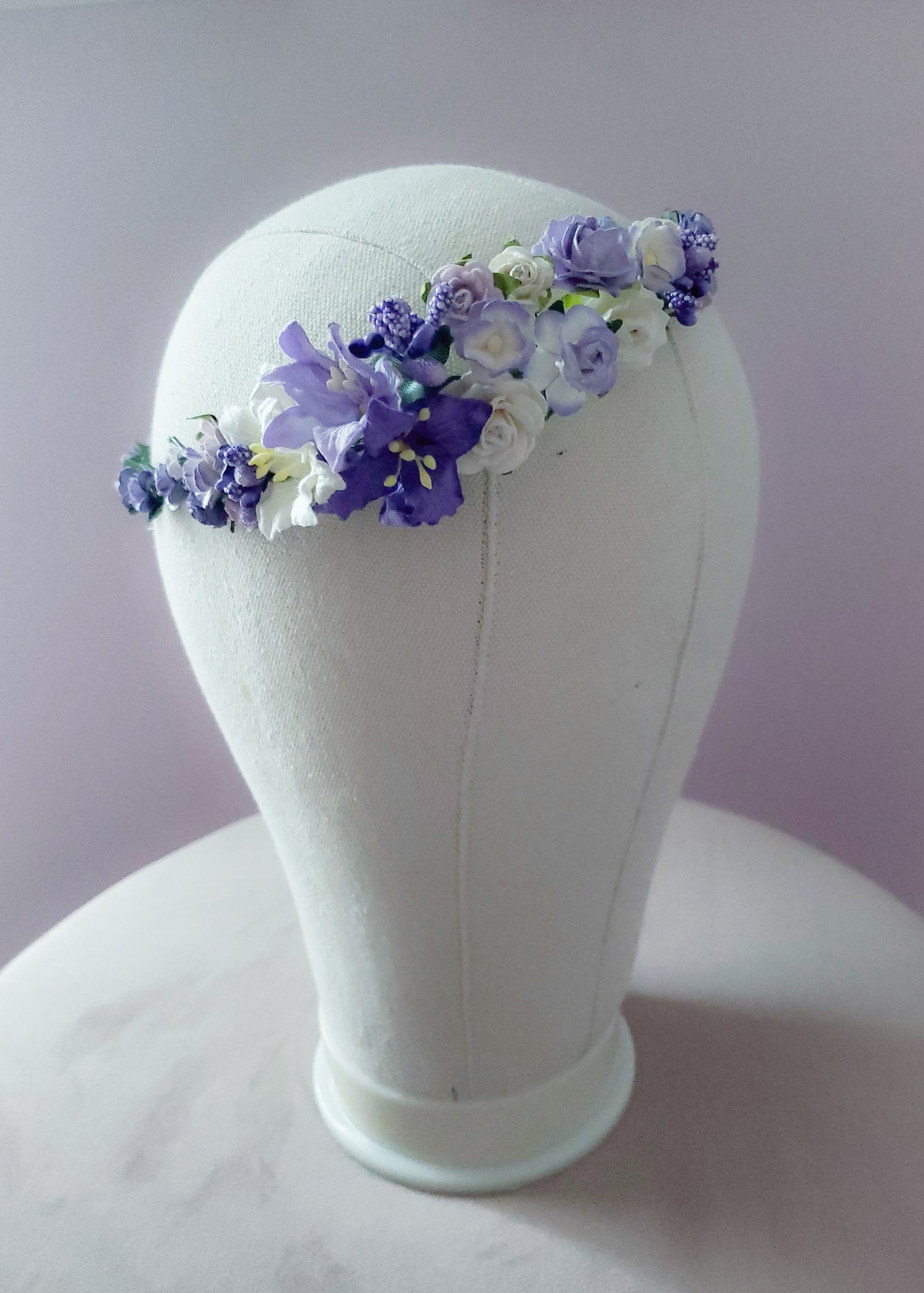 Shades of Lavender Floral Crown