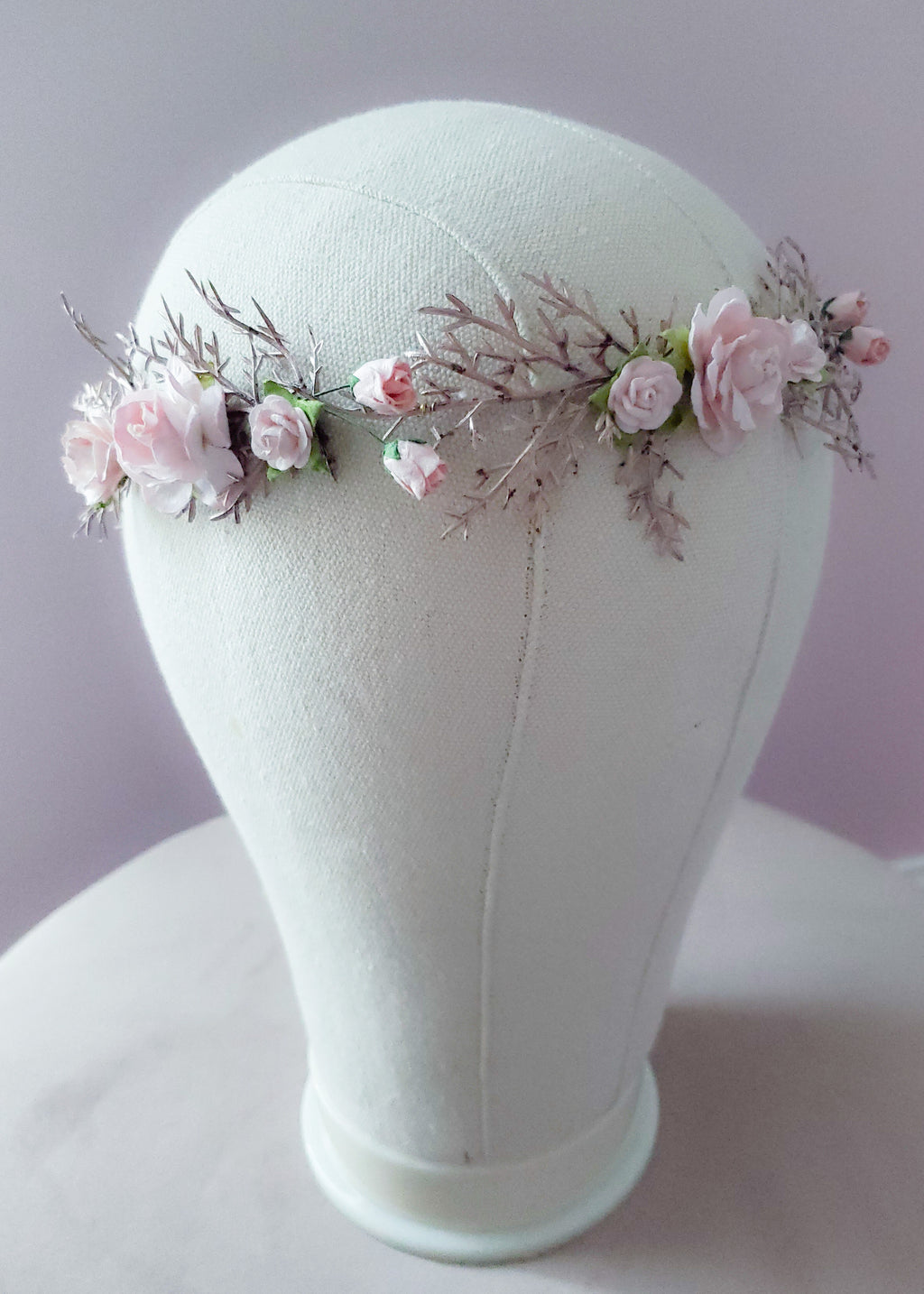 Dusty Rose & Gold Floral Crown