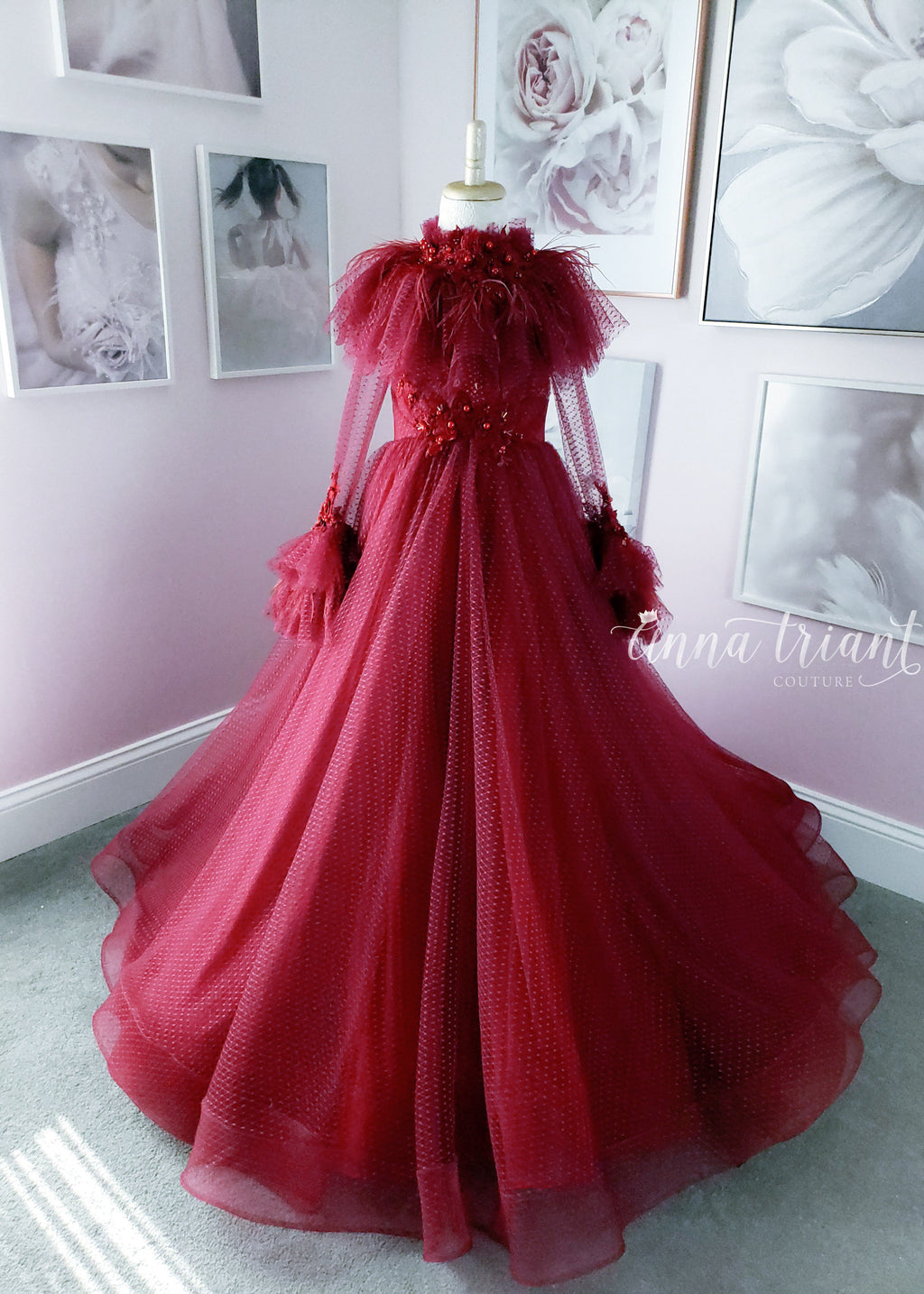 Painted in Rouge Gown & Capelet