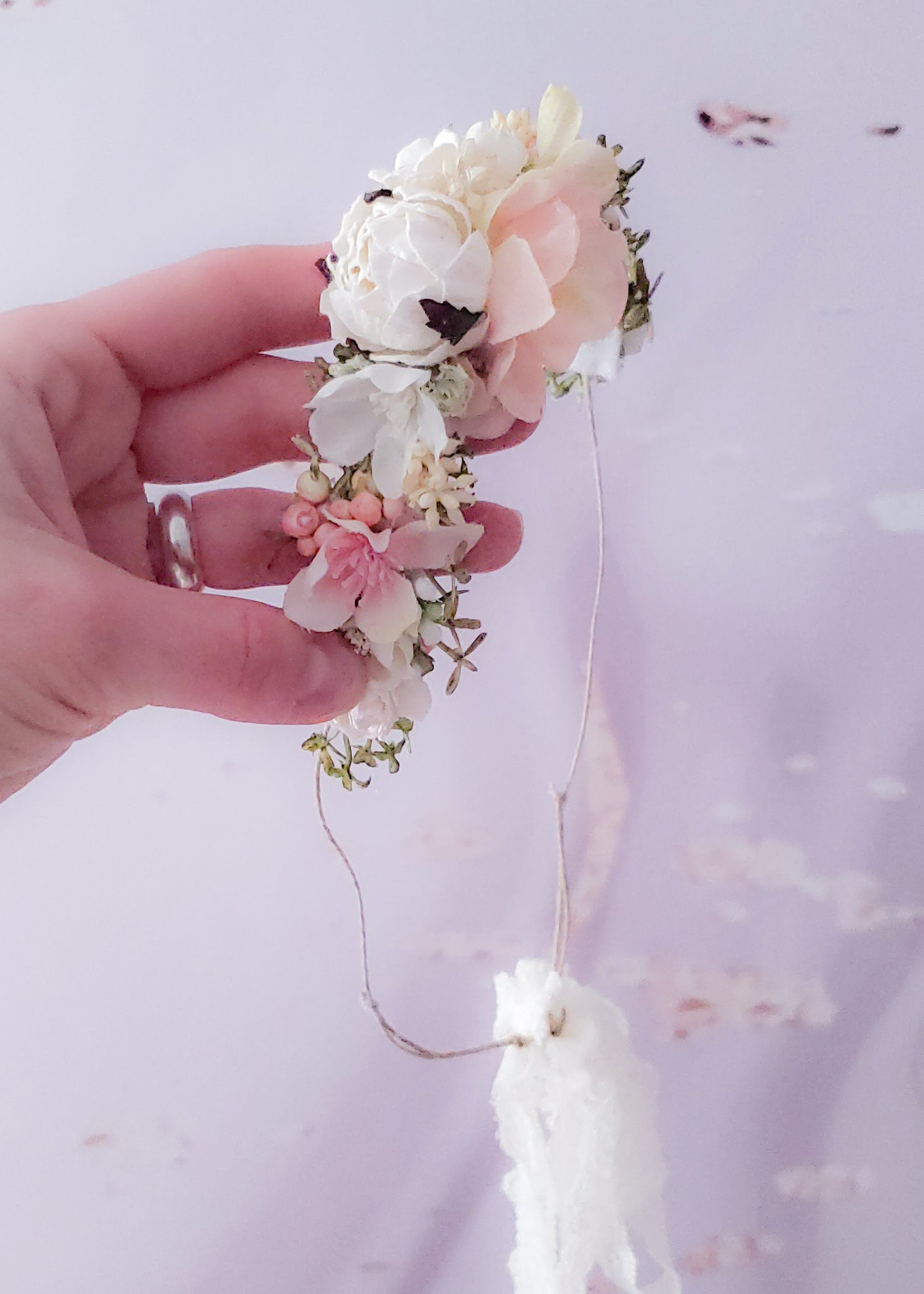 Blush & Cream Flower Headband