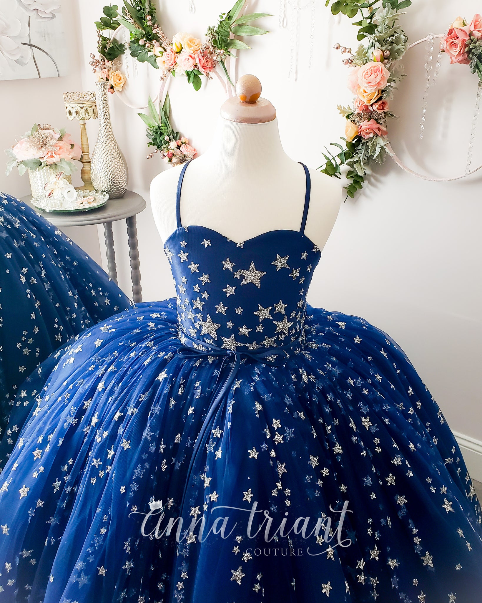 Luminous Navy Gown