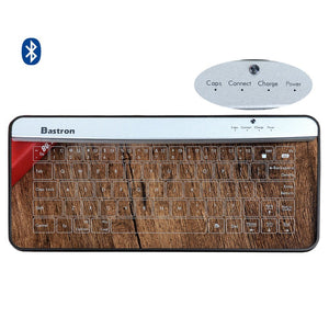 8b9d476f84ac8 Bastron Bluetooth Keyboard Transparent Touch Glass Keyboard with  Mouse gesture Function Biggest Technological Innovation New Ver.