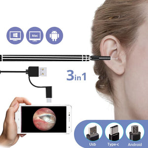 b72060474bf0d 3 in 1 USB Ear Cleaning Endoscope