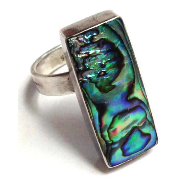 Abalone Silver Ring