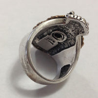 Sterling Silver Eagle Ring back