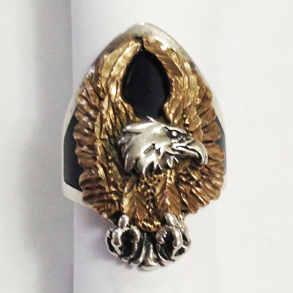 Sterling Silver Eagle Ring front bird