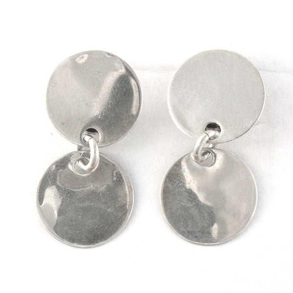 KALIBRE Harlene Korey Modernist Sterling Silver Clip Earrings