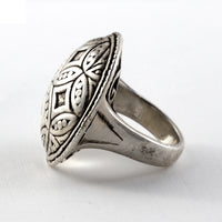 Large Round Sterling Ring