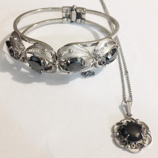 Sorrento Sterling Bracelet and Pendant Set