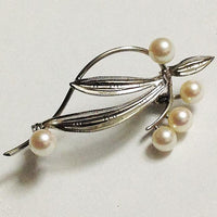Pearl Freeform Pin Fine Sterling Silver