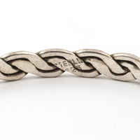 Large Woven Sterling Silver Bangle Bracelet