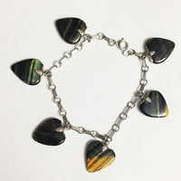 Tiger Eye Heart Sterling Silver Bracelet