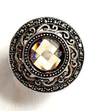 Topaz Filigree Sterling Silver Ring