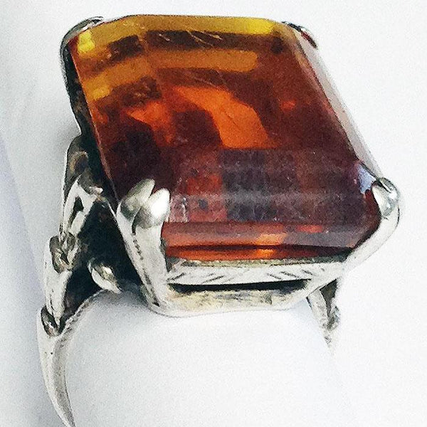 Very Vintage Topaz Silver Ring