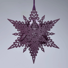 Load image into Gallery viewer, Purple Deco Snowflake Decoration