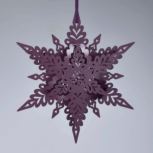 Purple Deco Snowflake Decoration