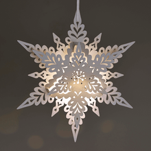 Load image into Gallery viewer, Illuminated White Deco Snowflake Decoration